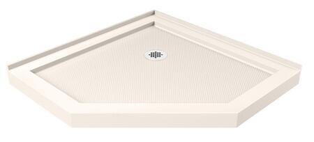 DLT-2040400-22 Slimline 40 In. X 40 In. X 2 3/4 In. H Corner Drain Neo-Angle Shower Base In