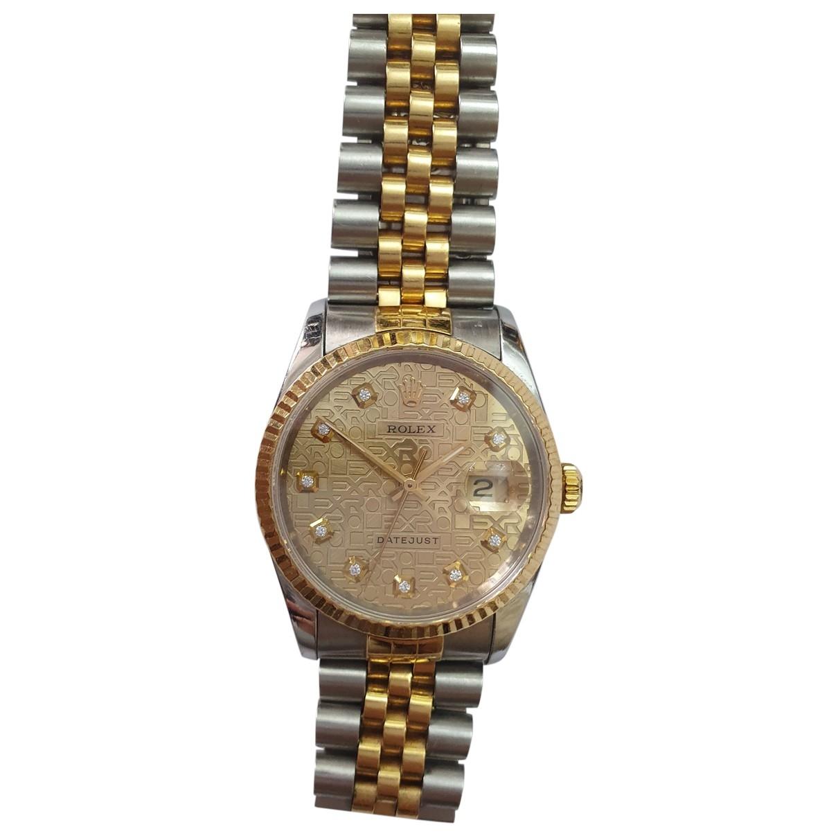 Rolex Datejust 36mm Uhr in  Silber Gold und Stahl