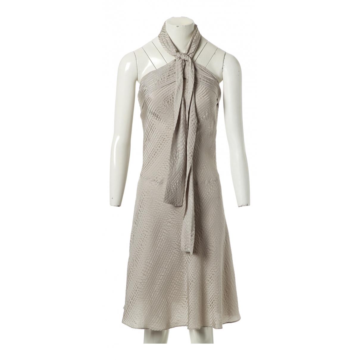 Balenciaga \N Kleid in  Grau Seide