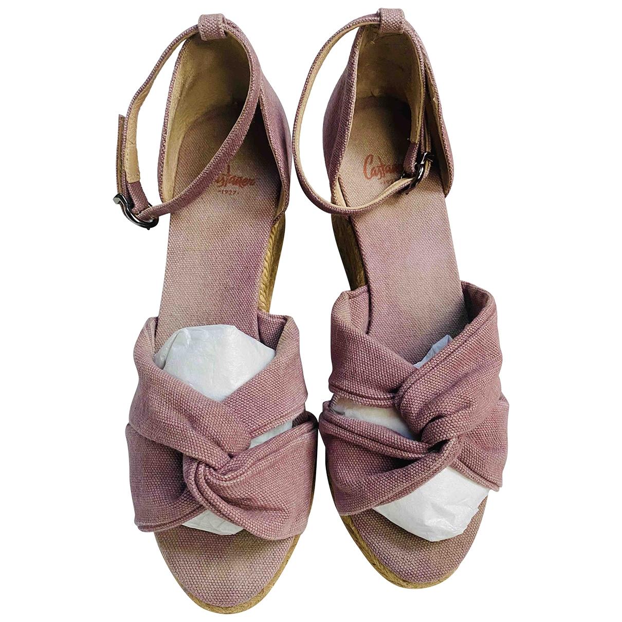 Castaner - Espadrilles   pour femme en toile - rose