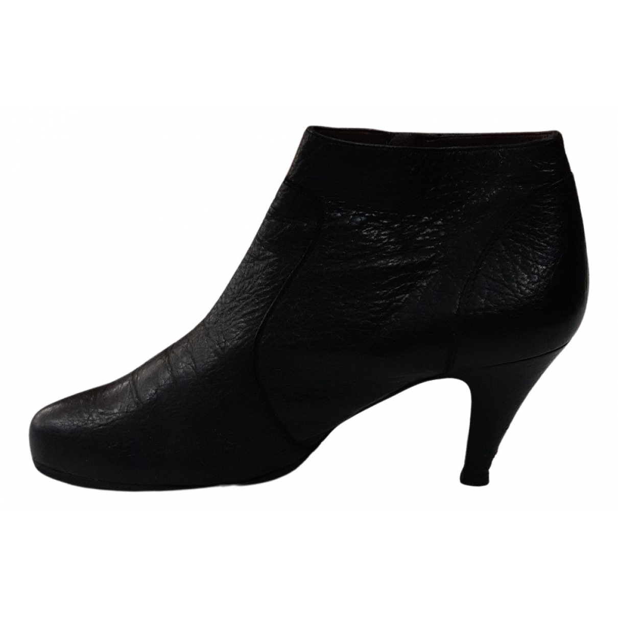Max Mara N Black Leather Ankle boots for Women 40 EU