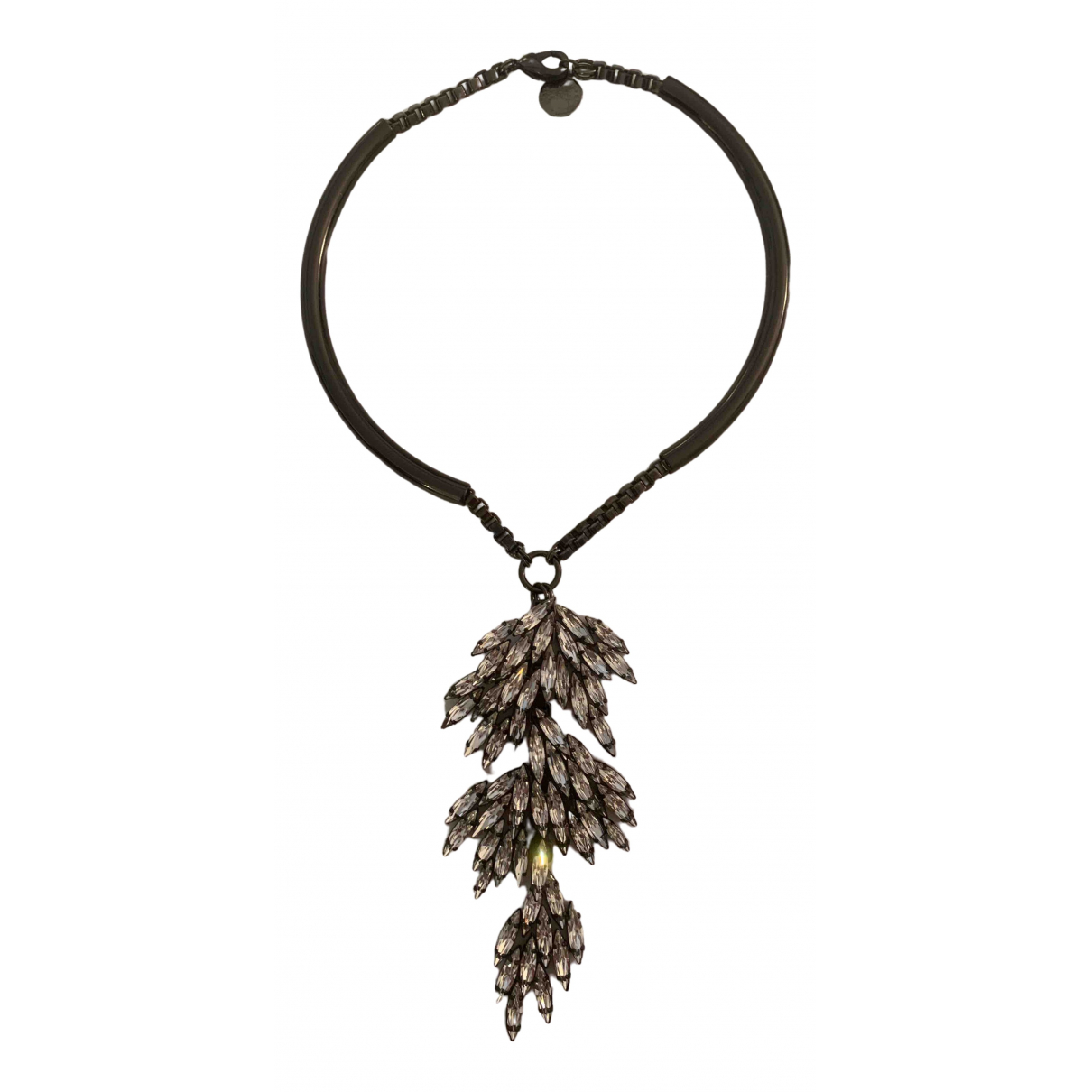 Ellen Conde \N Silver Crystal necklace for Women \N