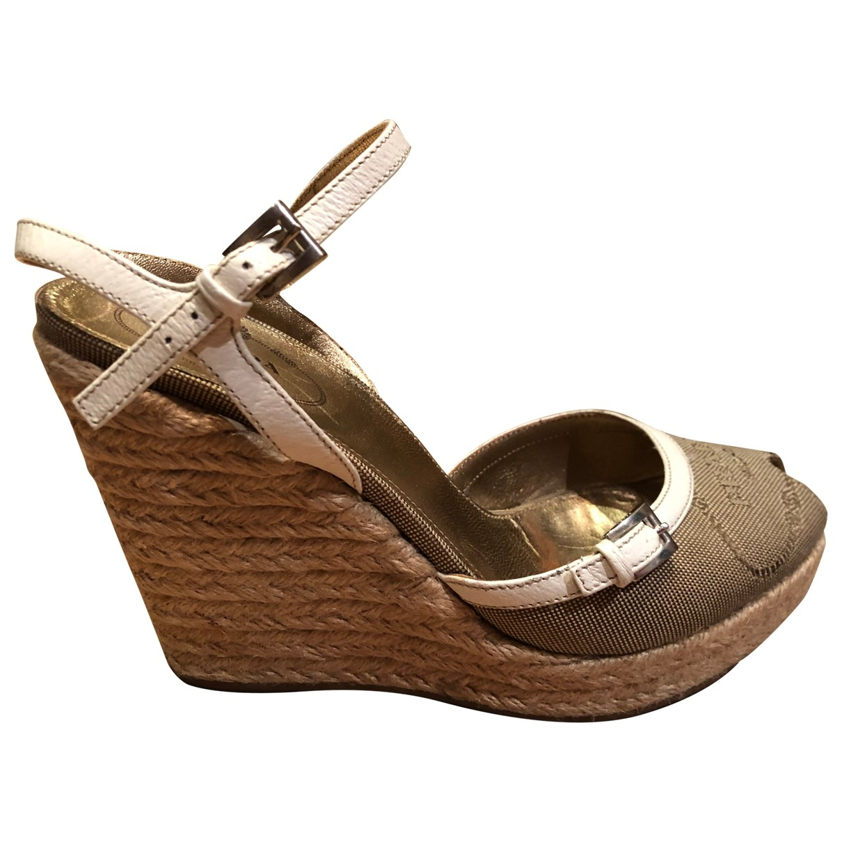 Prada \N Beige Cloth Sandals for Women 37.5 EU
