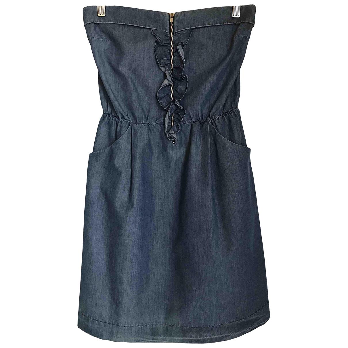 Sandro \N Blue Denim - Jeans dress for Women 38 FR