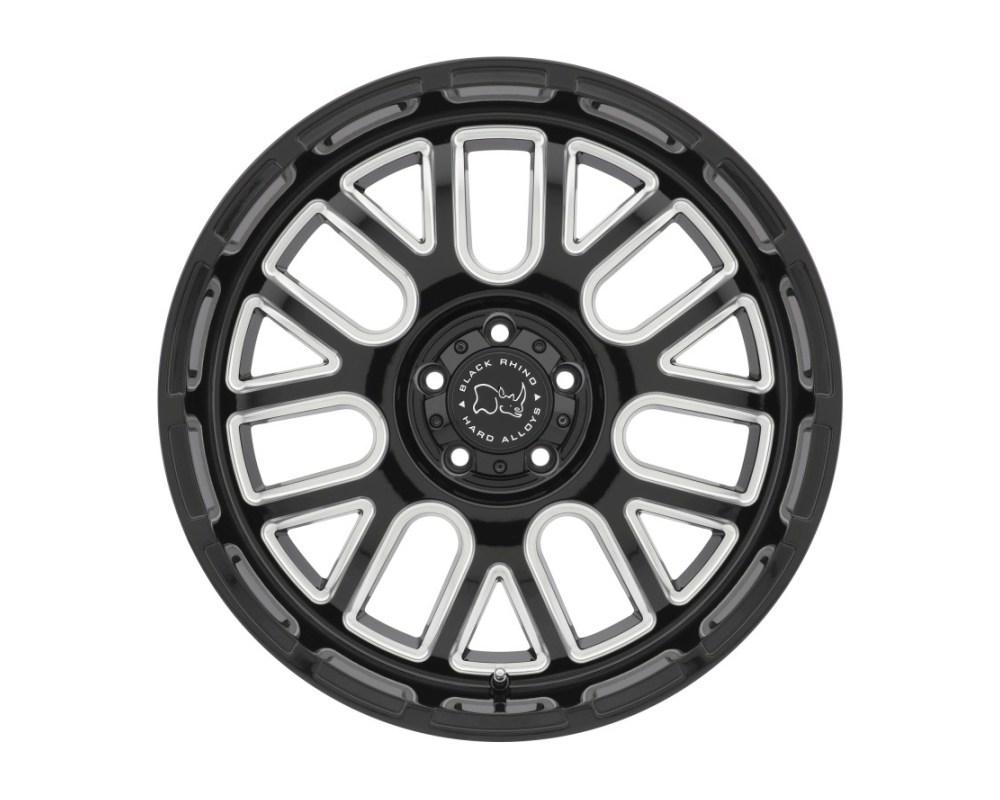 Black Rhino Pismo Gloss Black w/ Milled Spokes Wheel 20x12 5x127|5x5 -44mm CB71.6