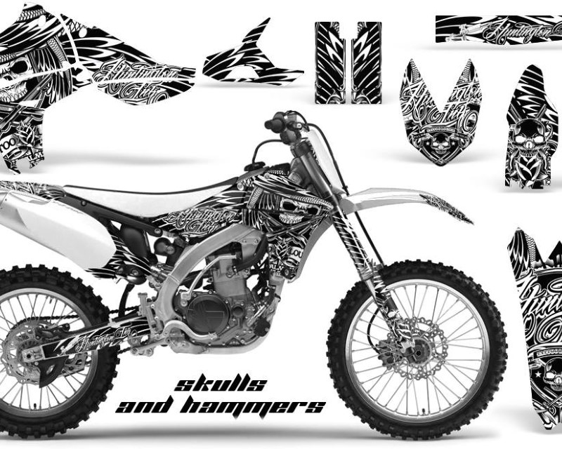 AMR Racing Dirt Bike Graphics Kit Decal Sticker Wrap For Yamaha YZ450F 2010-2013áHISH WHITE