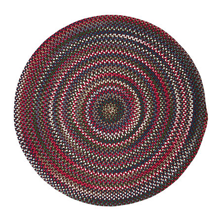 Colonial Mills American Pride Braided Round Reversible Indoor Rugs, One Size , Red
