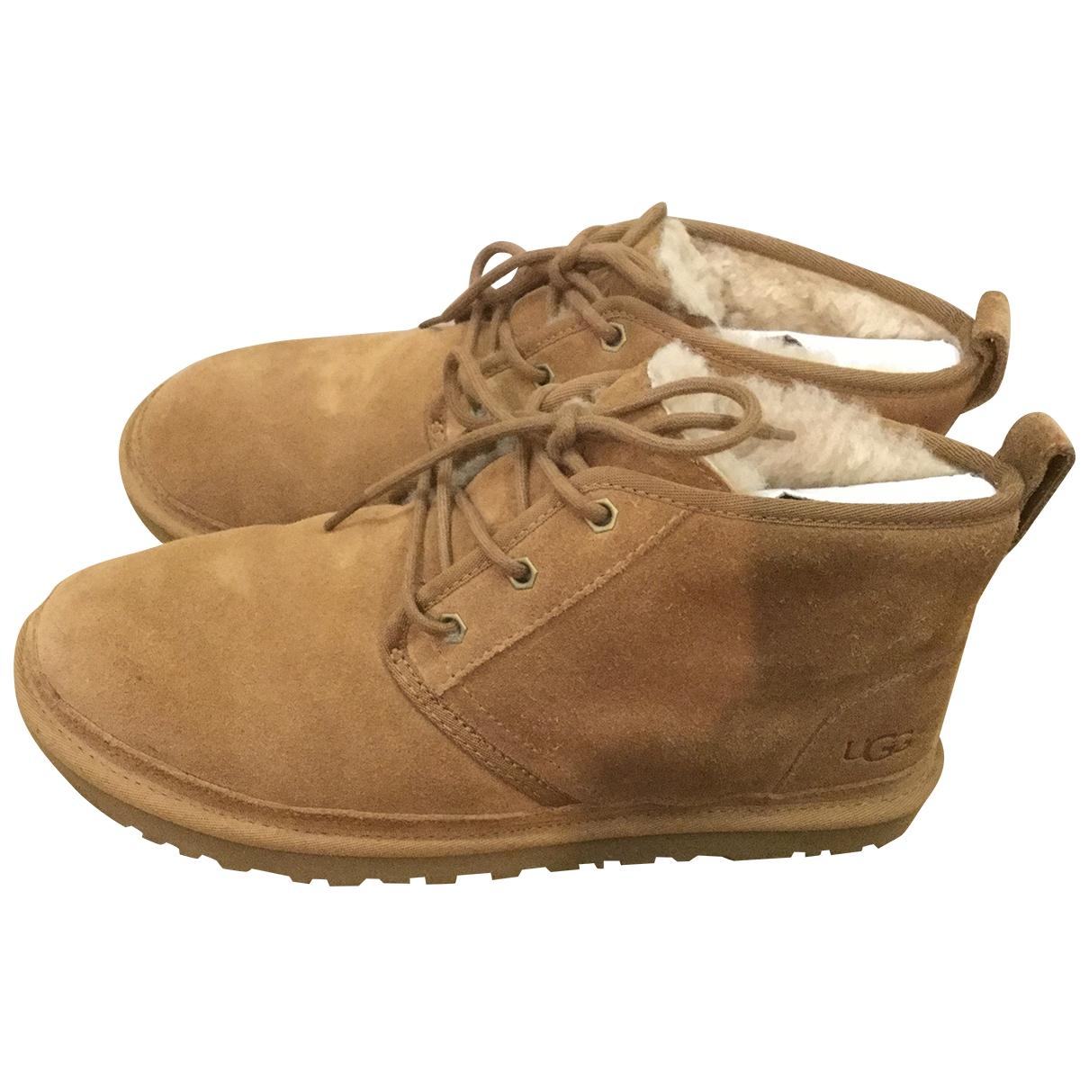 Ugg \N Camel Suede Boots for Men 44.5 EU