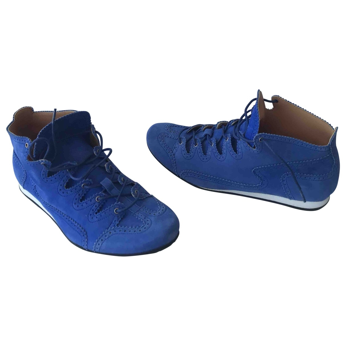 Hermès \N Turquoise Suede Trainers for Women 39 EU