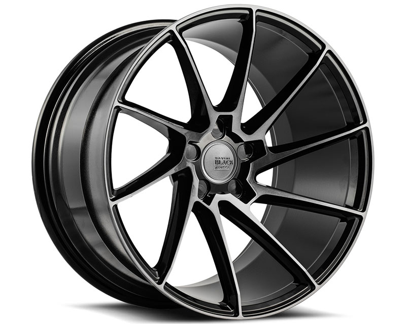Savini BM15-20100508D2763L di Forza Gloss Black with Double Dark Tint BM15 Left Wheel 20x10.0 5x108 27mm