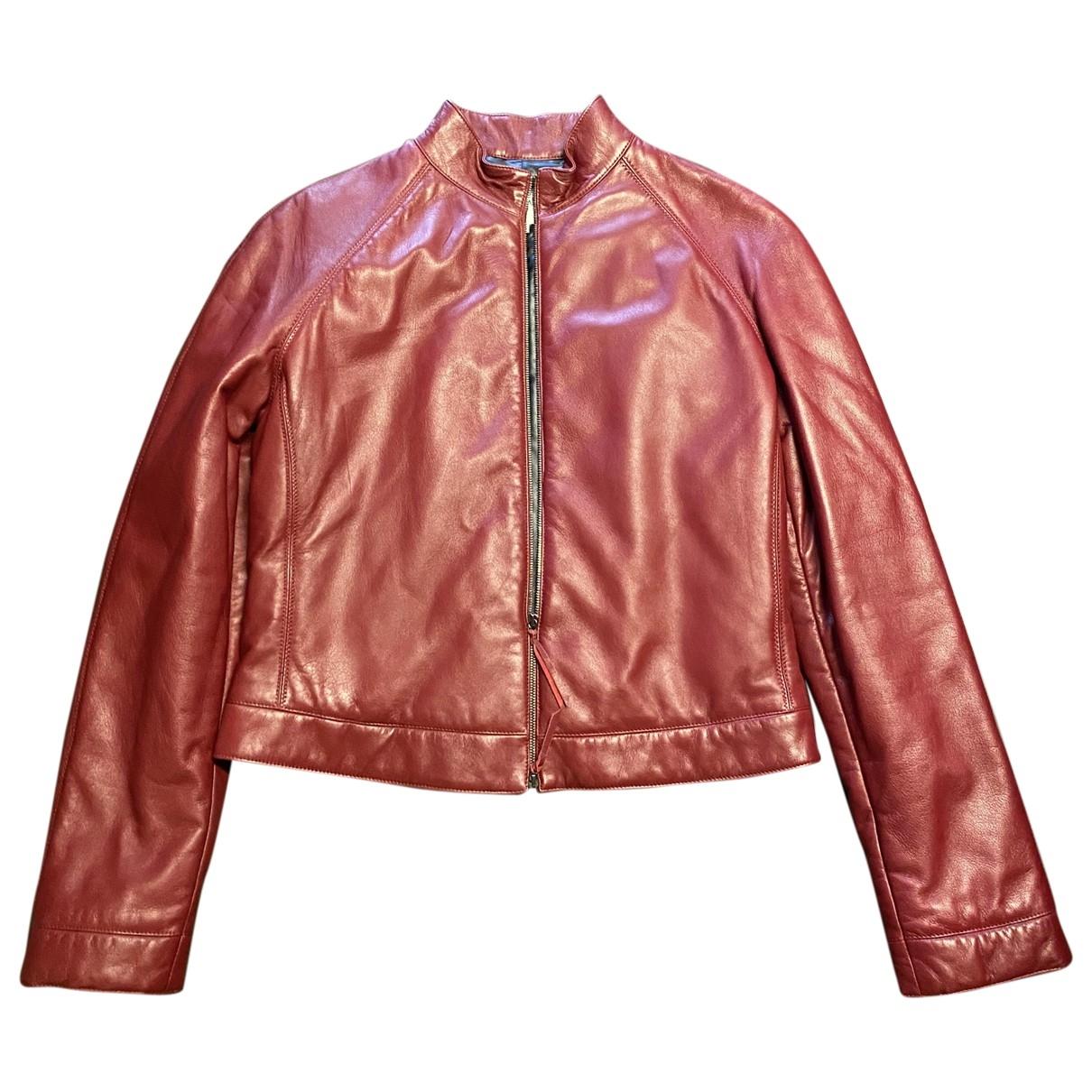 Armani Collezioni \N Lederjacke in  Rot Leder