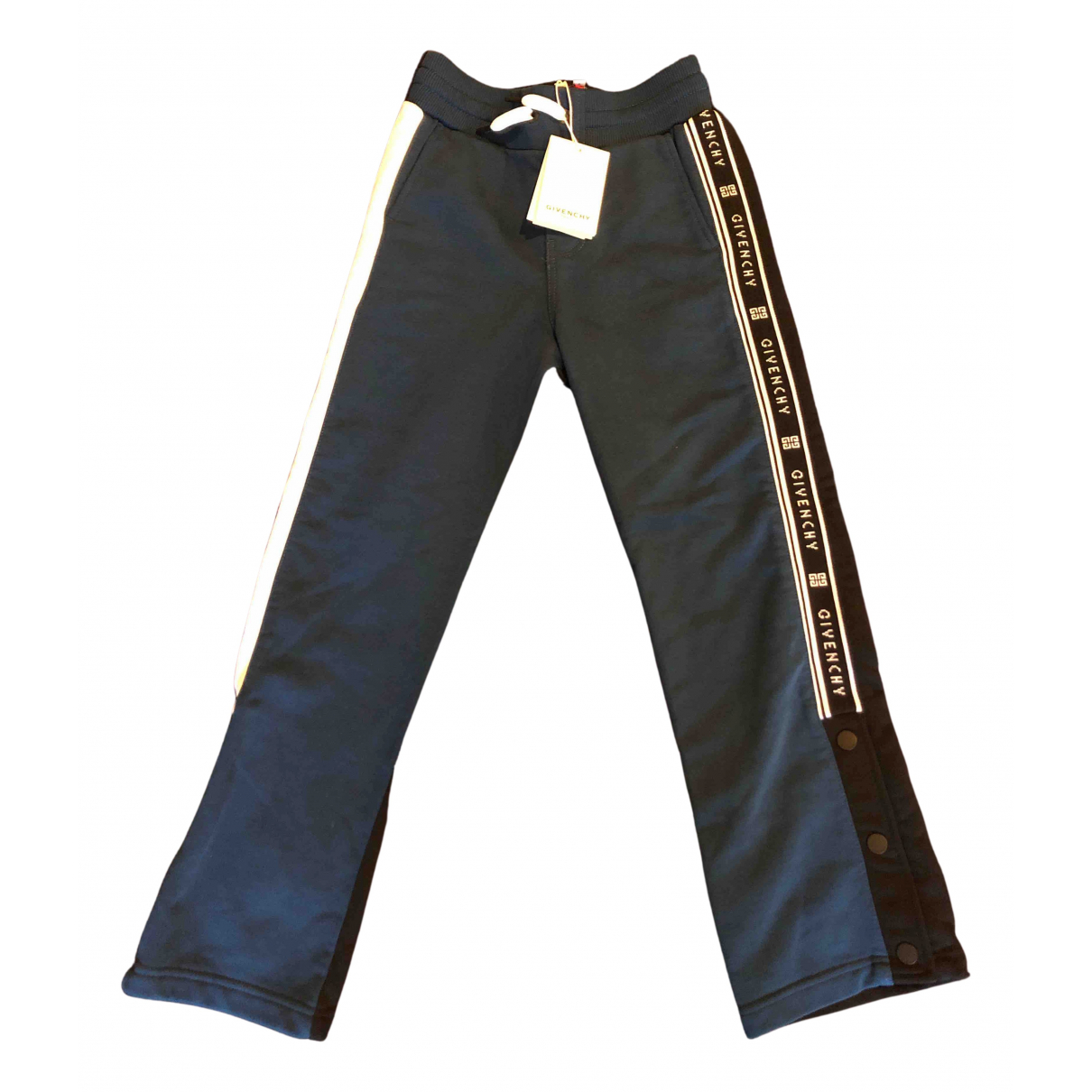 Givenchy N Blue Cotton Trousers for Kids 8 years - up to 128cm FR