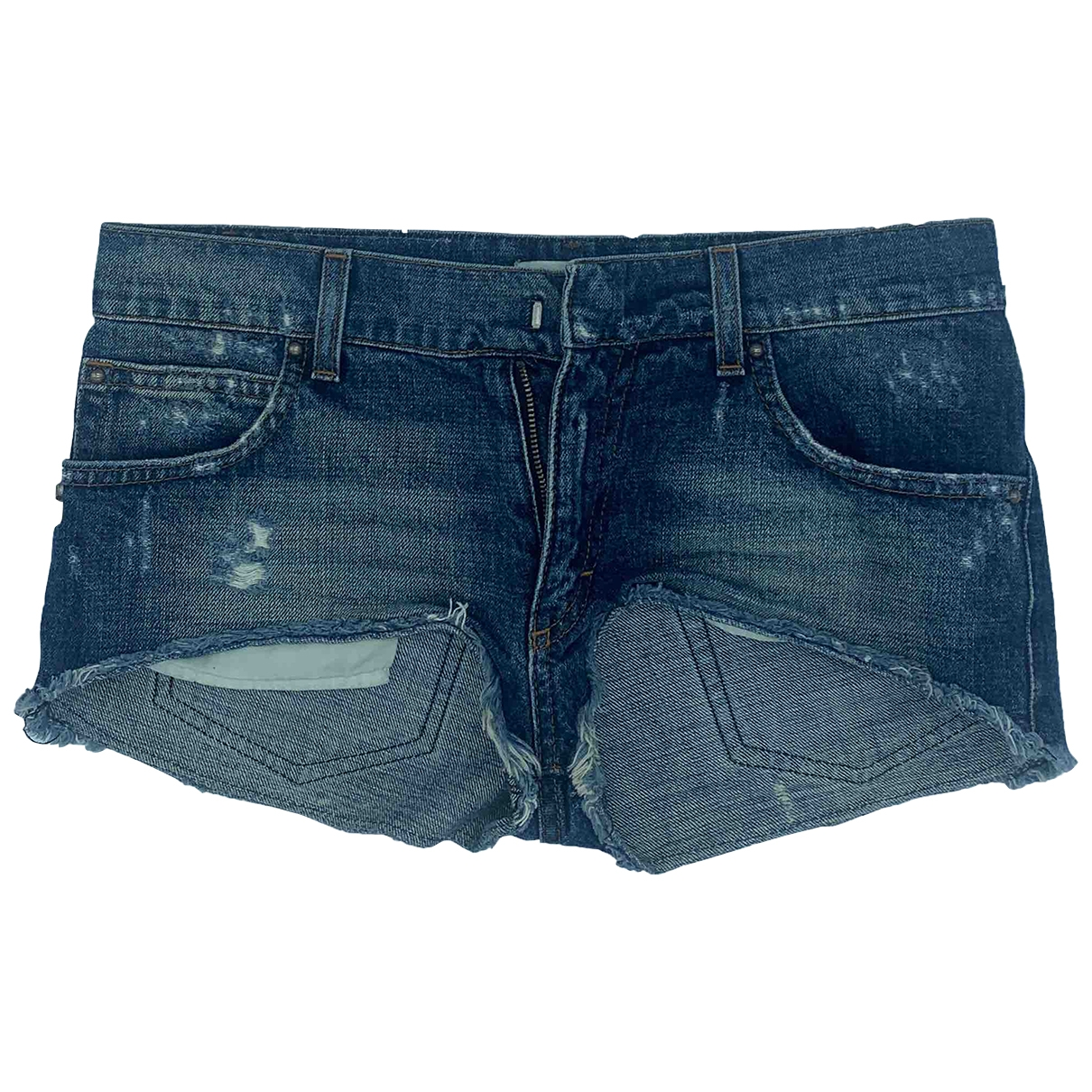 Pierre Balmain \N Shorts in  Blau Denim - Jeans