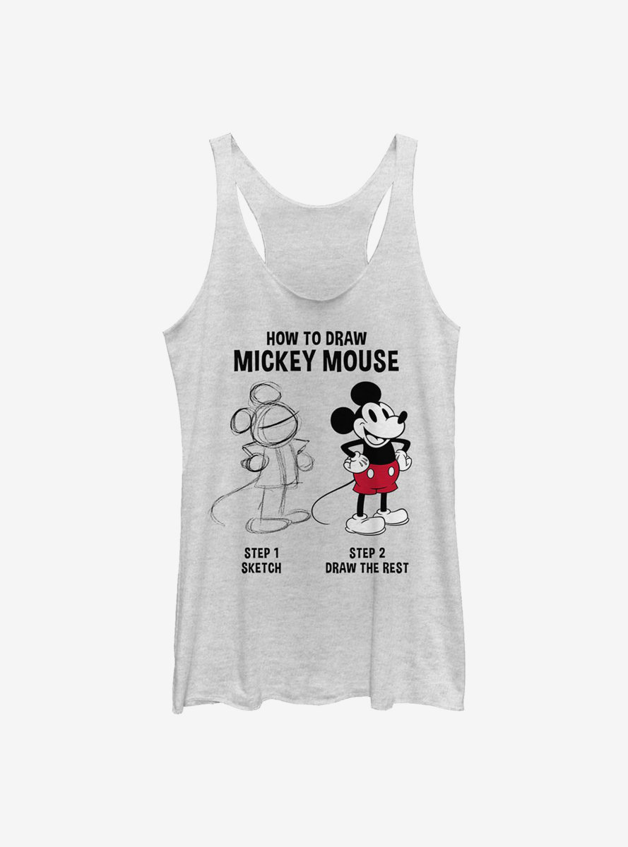 Disney Mickey Mouse Drawing Womens Tank Top