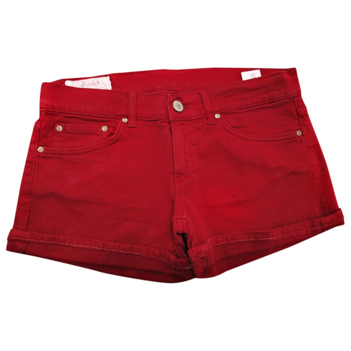 Dondup \N Shorts in  Bordeauxrot Denim - Jeans