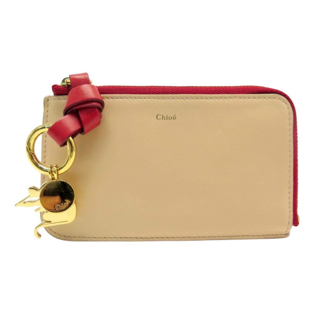 Chloe - Portefeuille   pour femme en cuir - beige