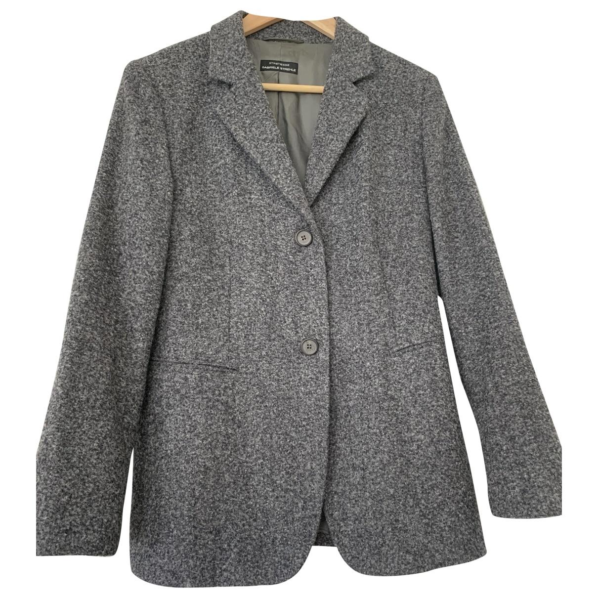 Strenesse \N Jacke in  Grau Wolle