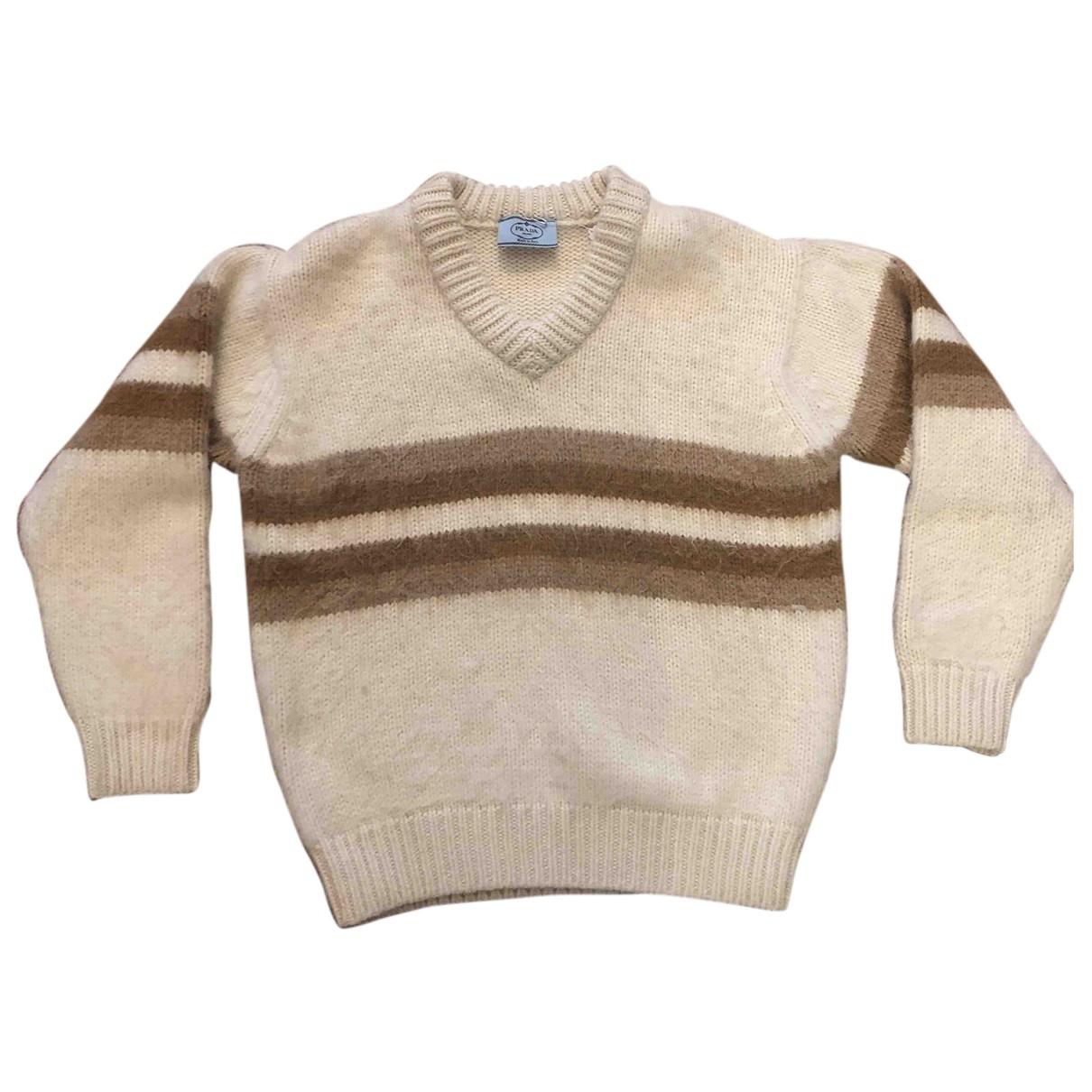 Prada N White Wool Knitwear for Women 38 IT