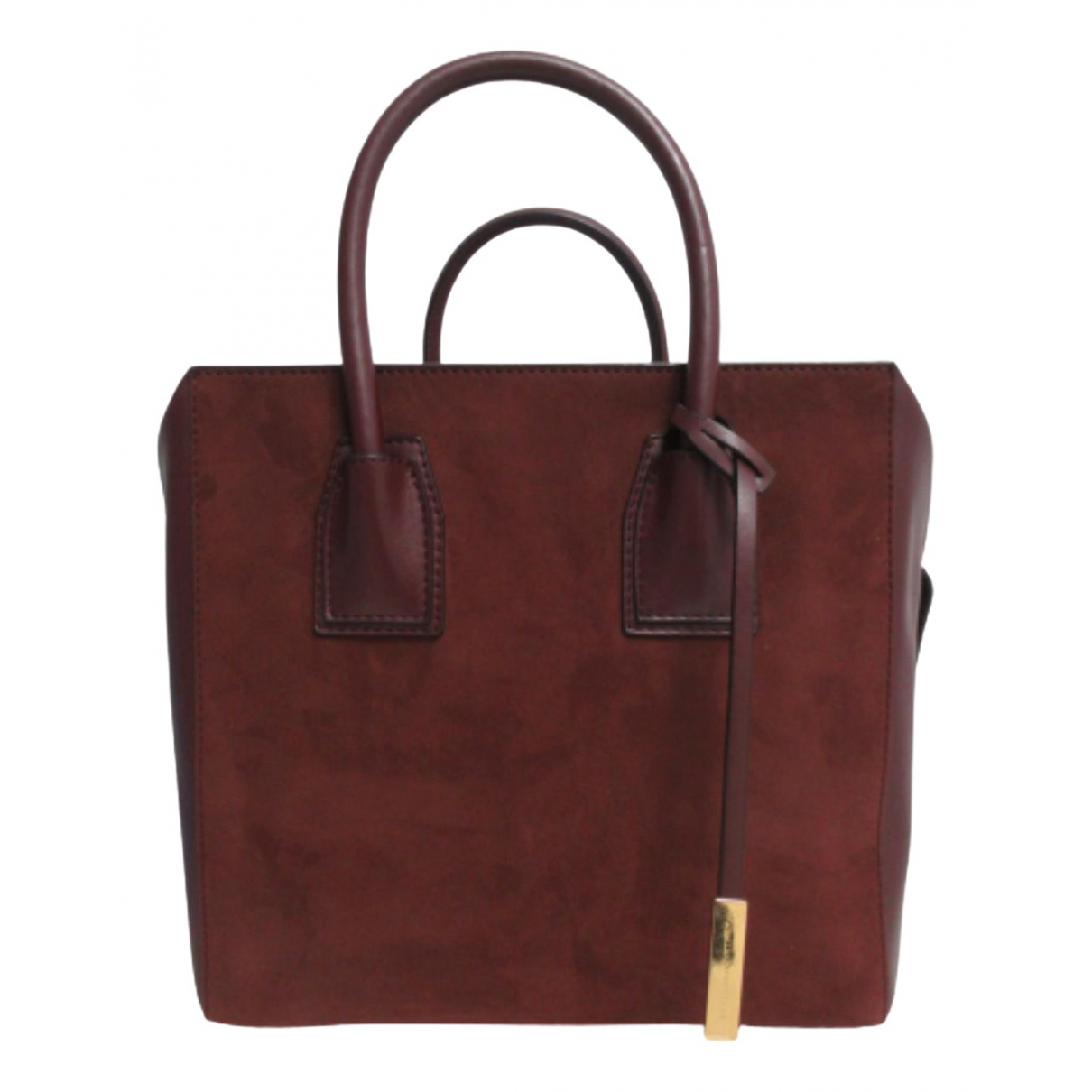 Stella Mccartney Cavendish Handtasche in  Bordeauxrot Leinen