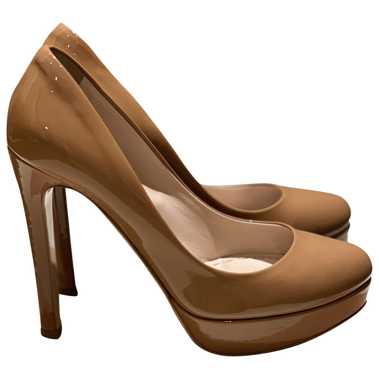 Miu Miu \N Camel Leather Heels for Women 36 EU