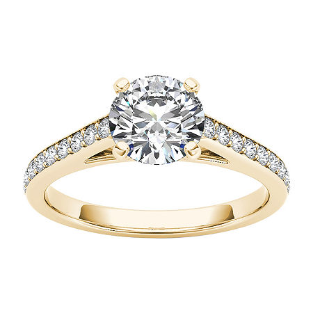 Womens 1 CT. T.W. Genuine White Diamond 14K Gold Engagement Ring, 6 1/2 , No Color Family