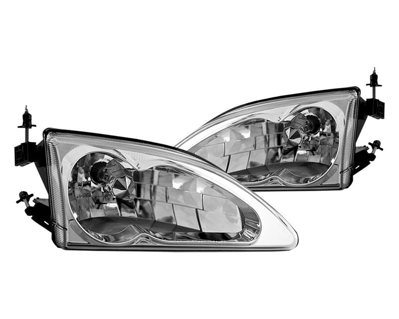 Winjet WJ10-0213-01 Clear Chrome OEM Style Head Lights Ford Mustang Cobra 94-98