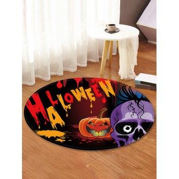 Halloween Skull Pattern Round Flannel Rug
