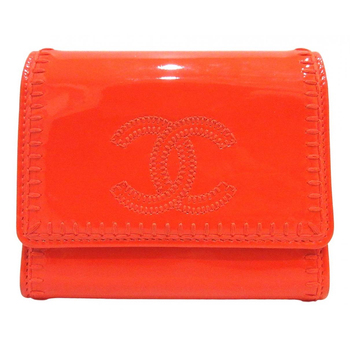 Chanel \N Portemonnaie in  Orange Leder