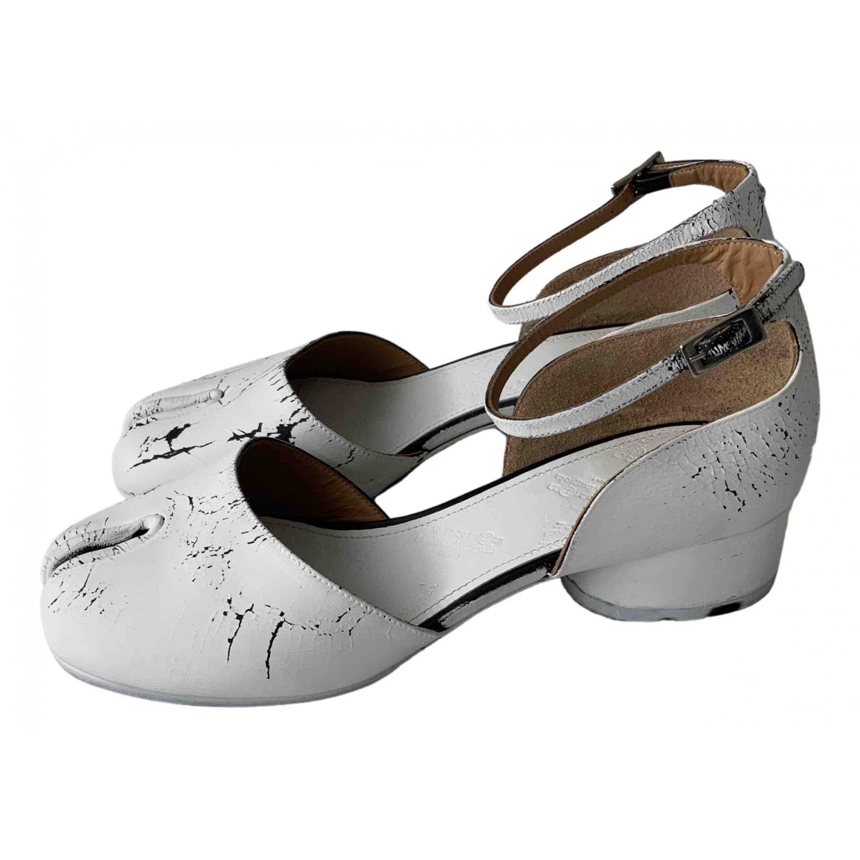 Maison Martin Margiela \N White Leather Heels for Women 38 EU