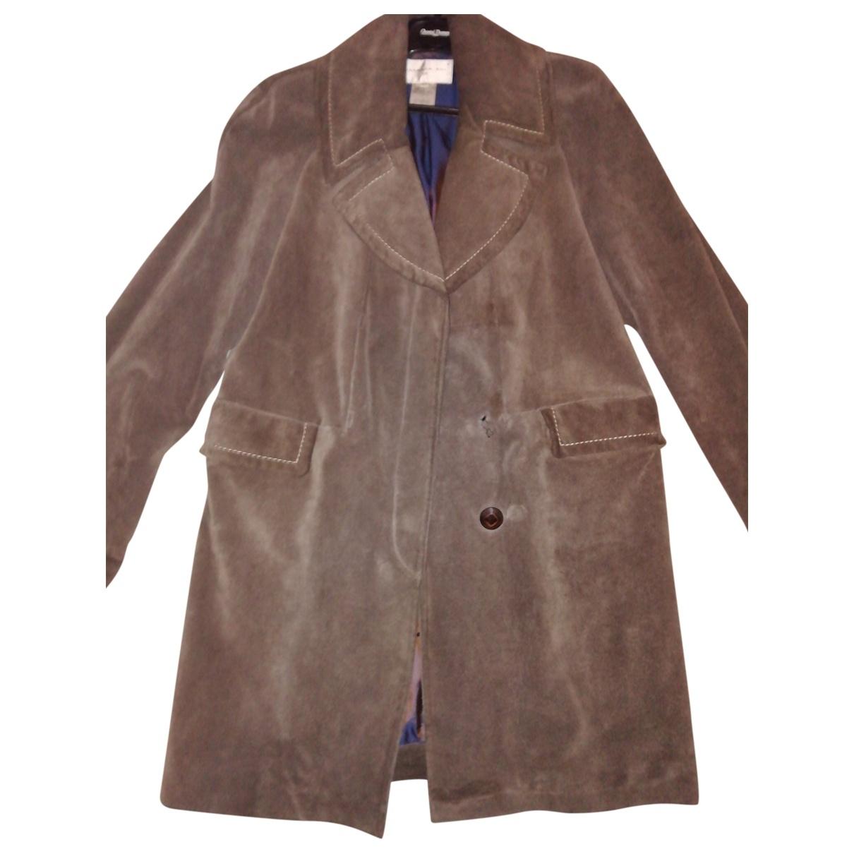 Barbara Bui \N Beige Leather coat for Women 36 FR