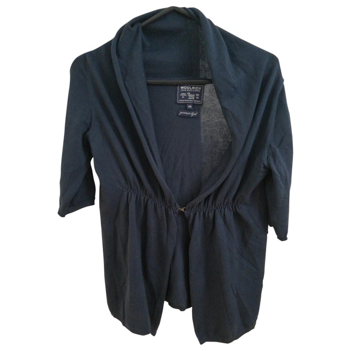 Woolrich \N Pullover in  Marine Baumwolle