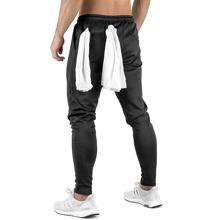 Men Zip Pocket Drawstring Waist Joggers Without Towel