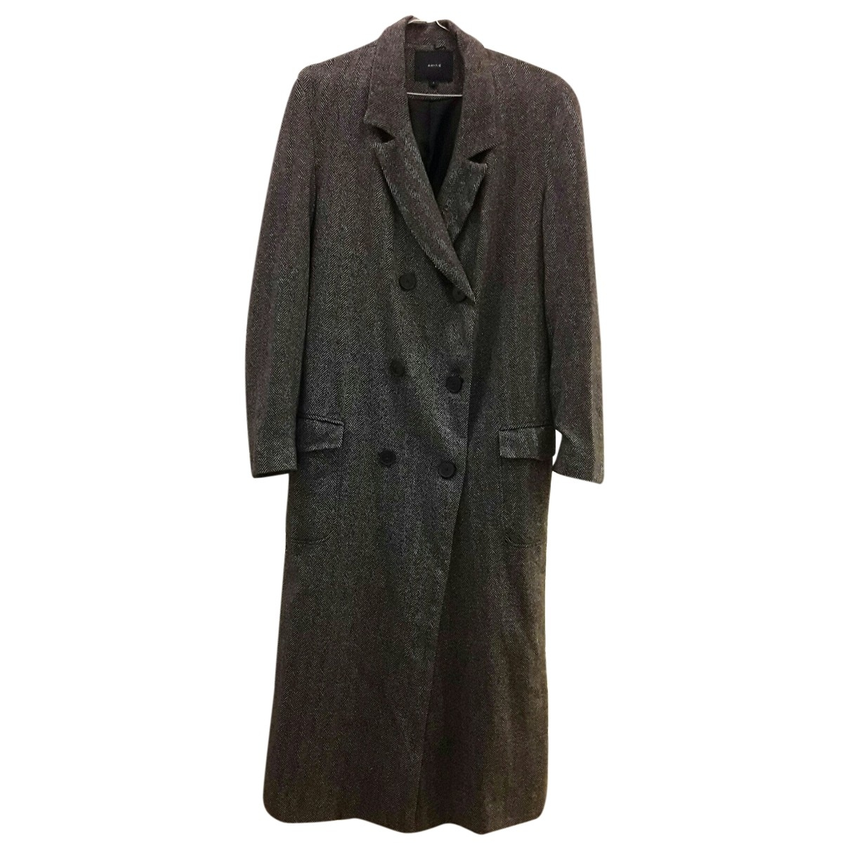 Non Signé / Unsigned \N Grey coat for Women L International