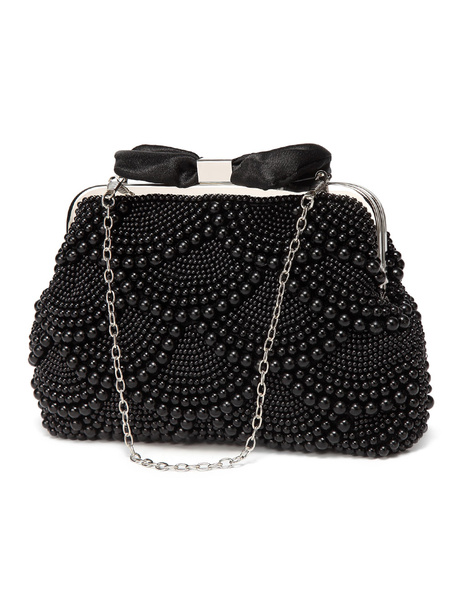 Milanoo Pearls Clutch Bags Wedding Bridal Evening Party Handbags