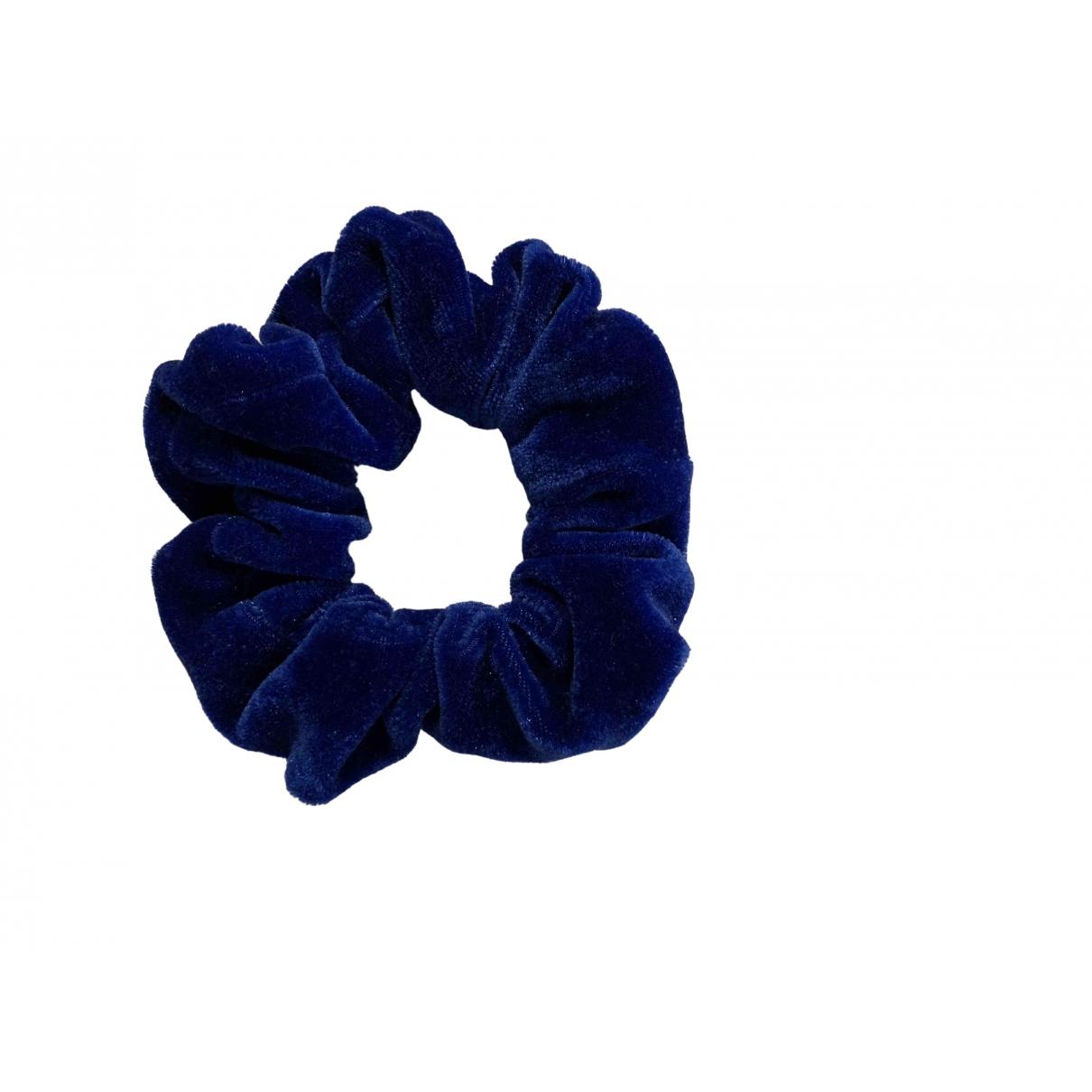 Non Signe / Unsigned \N Haarschmuck in  Blau Leinen