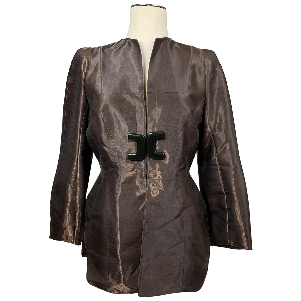 Thierry Mugler \N Brown Silk jacket for Women M International