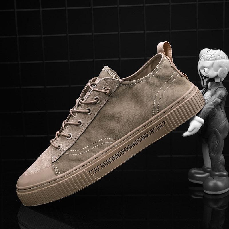 Ericdress Canvas Color Block Lace-Up Men's Skate Shoes