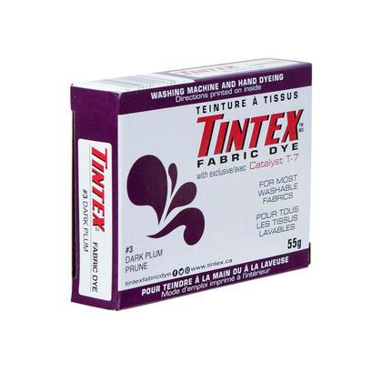 Tissu teinture Tissu Dye Tintex marque pour la plupart des tissus lavables prune foncé 55g 1pc
