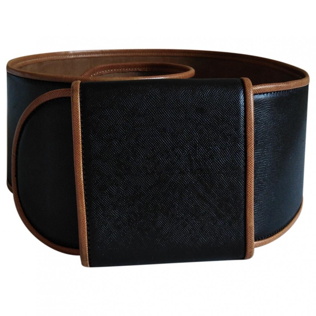 Non Signé / Unsigned \N Black Leather belt for Women S International