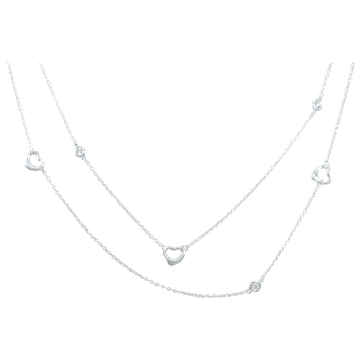 Tiffany & Co Elsa Peretti  Kette in  Gold Silber