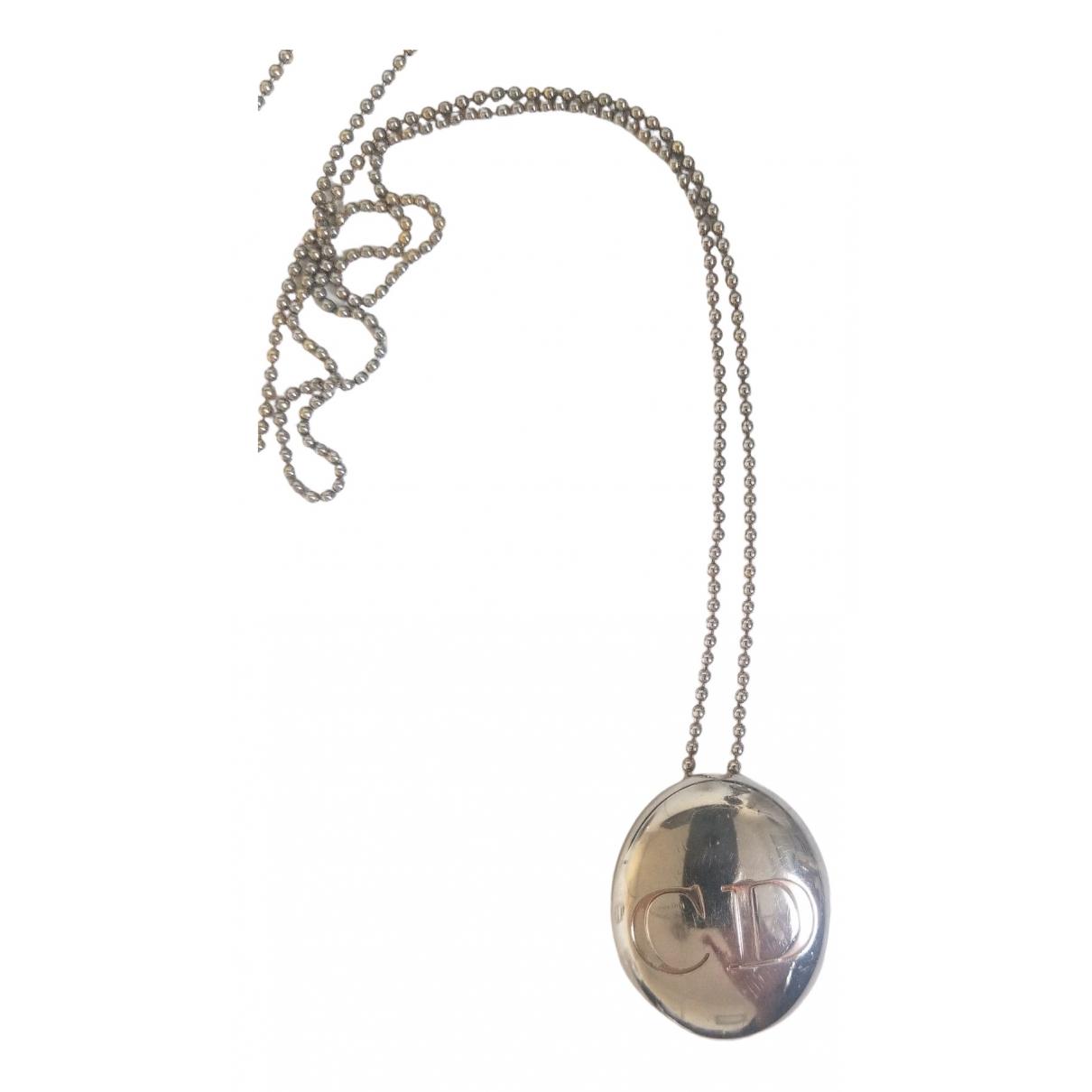 Dior Monogramme Halskette in  Silber Stahl