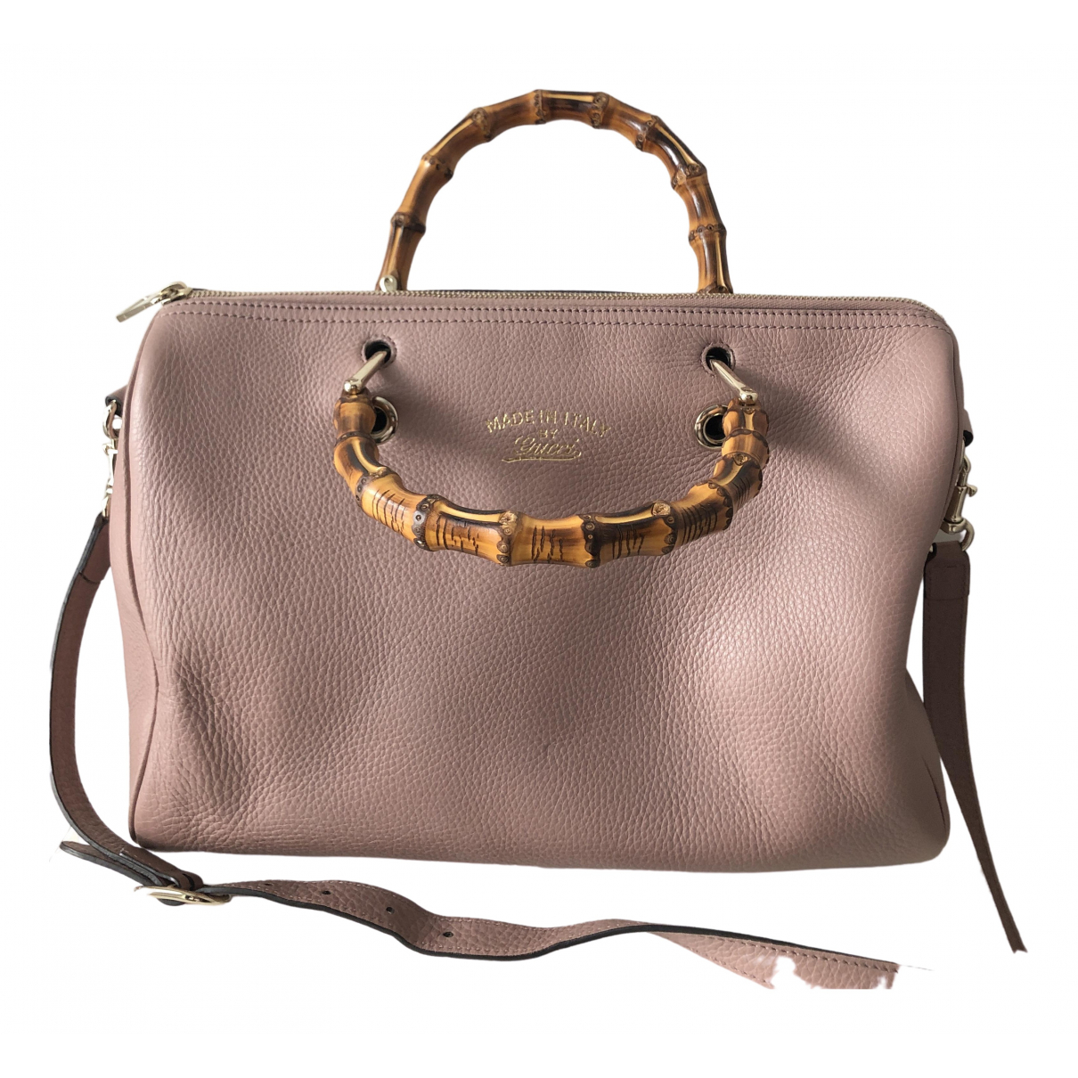Gucci Bamboo Pink Leather handbag for Women \N