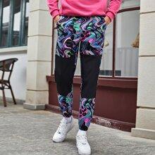 Pantalones para hombre Bolsillo Grafivo Casual
