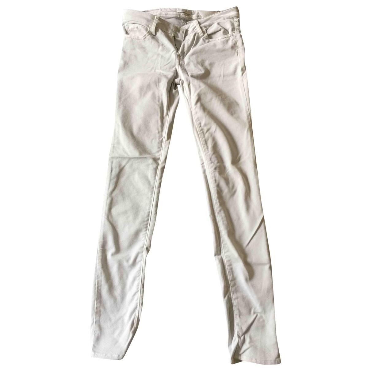 Reiko \N White Cotton Trousers for Women XS International
