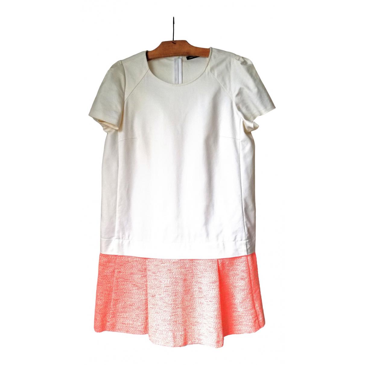 Comptoir Des Cotonniers - Robe   pour femme en coton - elasthane - blanc