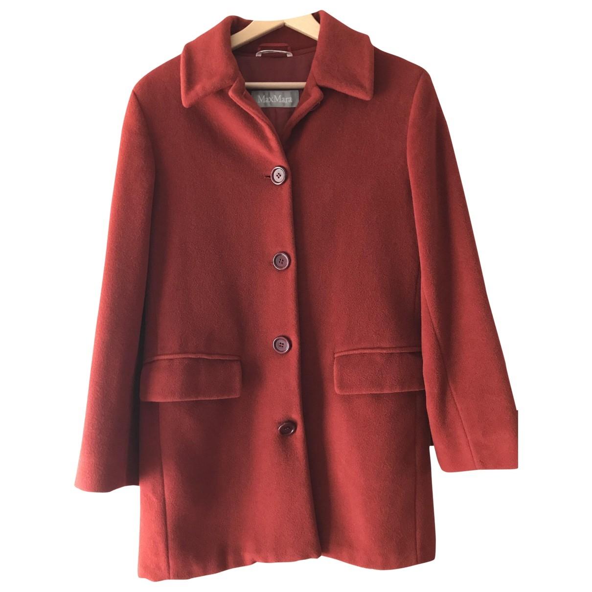 Max Mara - Manteau   pour femme en laine - rouge