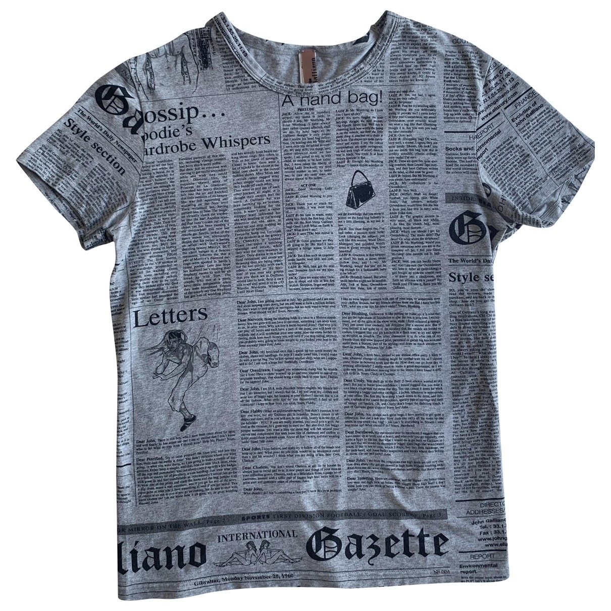 Galliano \N Top in  Grau Baumwolle