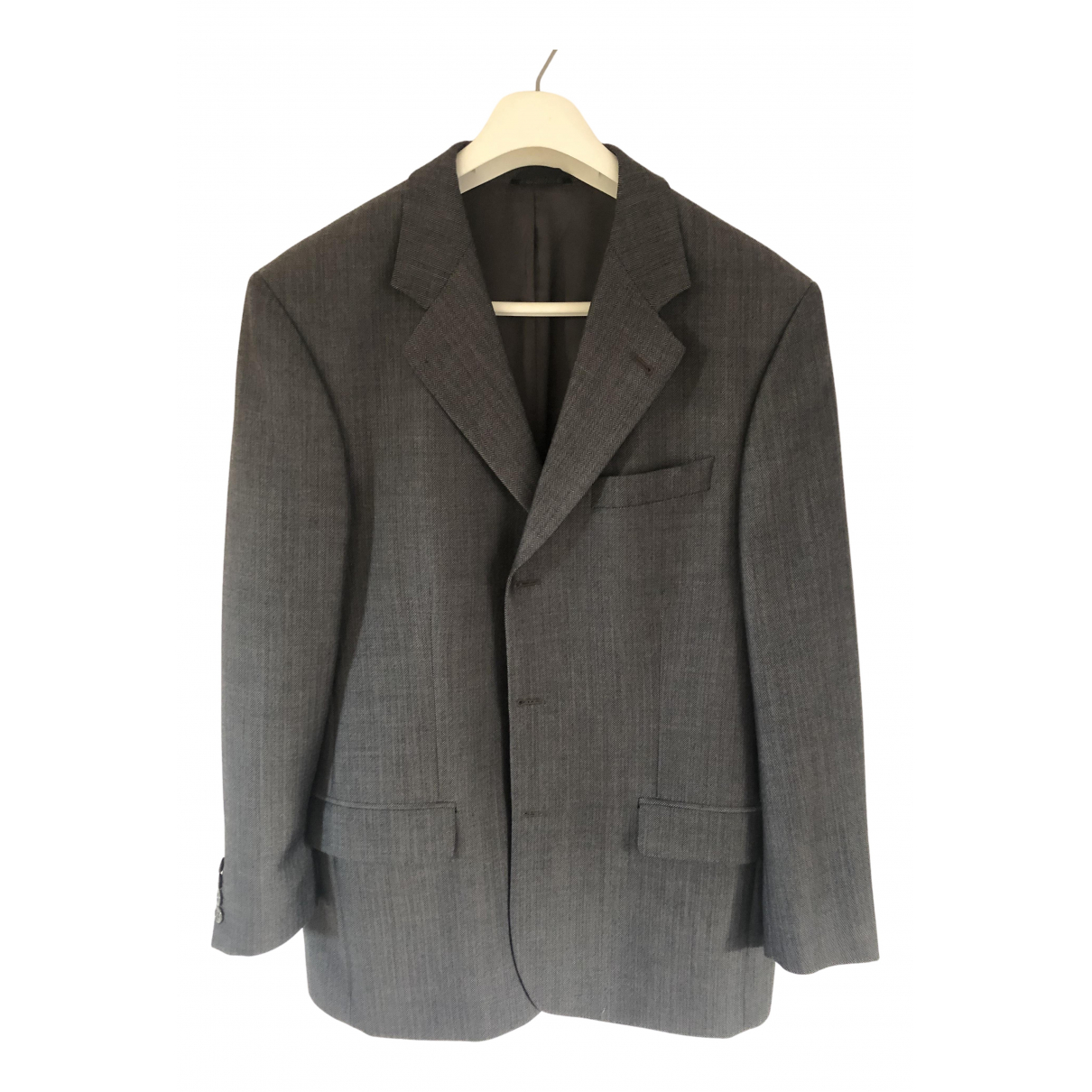 Non Signé / Unsigned \N Grey Wool Suits for Men 50 FR