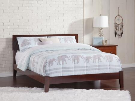 Orlando Collection AR8131034 Full Size Platform Bed with Open Foot Board  Adjustable Headboard  Hardwood Slat Kit and Eco-Friendly Solid Hardwood