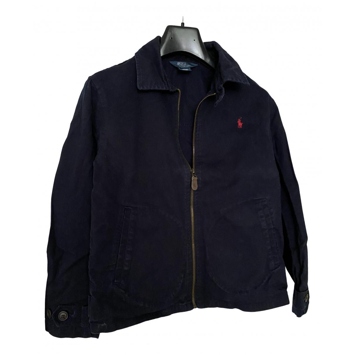 Polo Ralph Lauren - Blousons.Manteaux   pour enfant en coton - marine